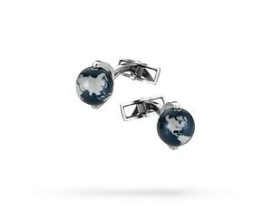 Запонки Montblanc Iconic, сталь, форма глобуса, 12,3 мм  112998
