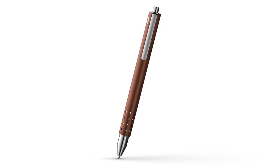 Чернильная ручка Lamy Swift, матовый лак, хром, коричневый  1621684
