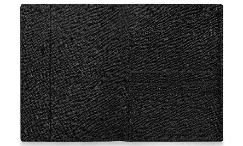 Обложка для паспорта Montblanc Sartorial, кожа, отделение для паспорта, 3 отделен  113232