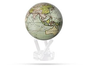 Глобус Mova Земля непознанная, самовращающийся, d12 см, серый  MG-45-GCT