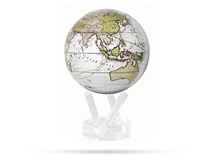 Глобус Mova Mova Terra Incognitta, самовращающийся, белый  MG-45-WCT