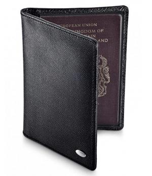 Обложка Dalvey Dalvey, для паспорта, кожа с икорным тиснением, че  3121