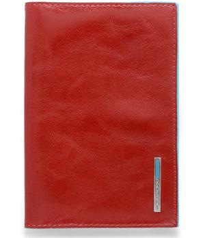 Обложка для паспорта Piquadro Piquadro, из натуральной кожи красного цвета  PAS300B2/R