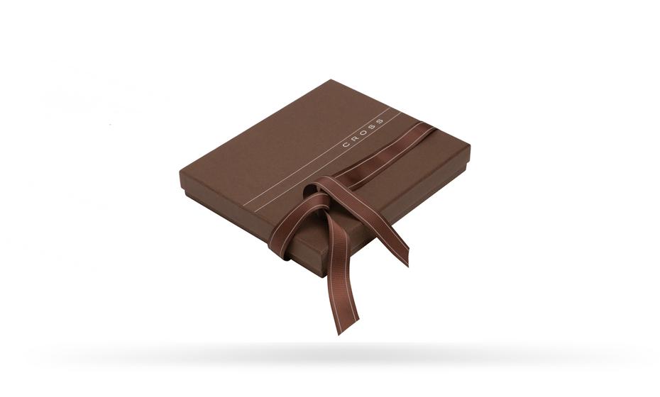 Портмоне Cross Cross Nueva, кожа, коричневое  AC028366-2