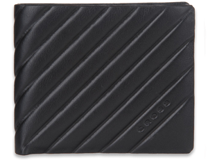 Портмоне Cross Cross Grabado, кожа, черный, два кармана для докум  AC178366-1