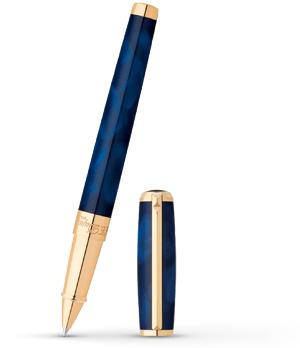 Чернильная ручка S.T. Dupont Atelier, латунь, позолота, синий лак  412698