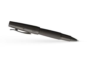 Чернильная ручка Graf von Faber-Castell E-Motion Pure Black, анодировнный алюминий, PVD по  148625