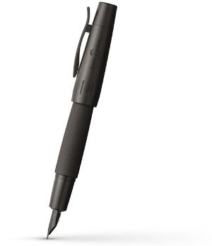 Перьевая ручка Graf von Faber-Castell E-Motion Pure Black, перо М, нержавеющая сталь, ан  148620