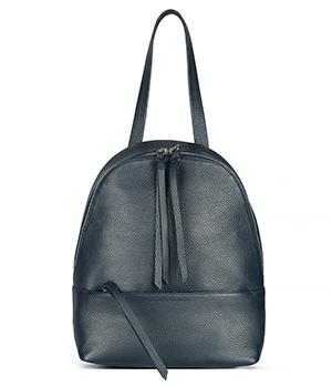 Рюкзак Avanzo Daziaro GRAIN, на молнии, телячья кожа, синий  AD-018-101303'