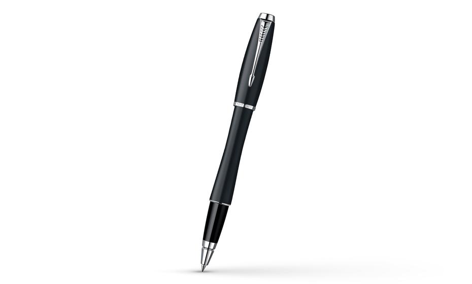 Чернильная ручка Parker Urban Muted Black CT корпус из ювелирной латуни, лак с отделкой хромом, арт. S0850440