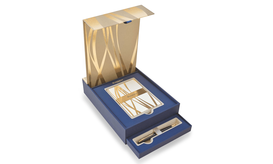 Набор шариковая ручка и открыт Waterman шариковая ручка Carene Black Sea GT, ювелирная лат  1937585