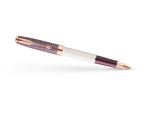 Перьевая ручка Parker Sonnet Contort Purple Cisele, золото 18К, ювелирна  1930055