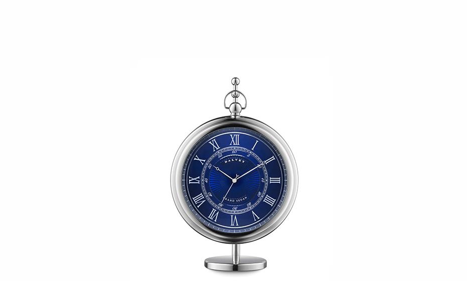 Настольные часы Dalvey Dalvey Grand Sedan, синий циферблат, нержавеющая с  3249 3249