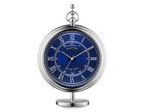 Настольные часы Dalvey Dalvey Grand Sedan, синий циферблат, нержавеющая с  3249