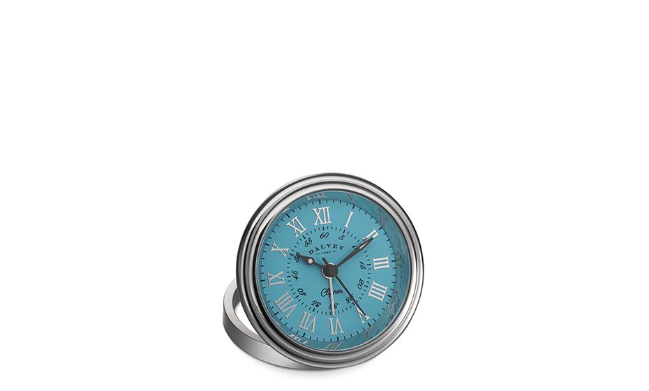 Настольные часы Dalvey Clipper Clock, бирюзовый циферблат  3277