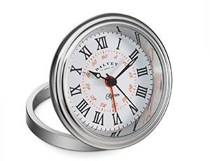 Настольные часы Dalvey Clipper Clock, сталь, белый циферблат  3278