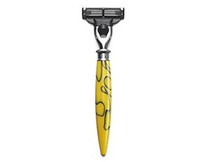 Станок для бритья Dalvey Dalvey Artisan, смола, лезвие Gillette Mach3, желт  3264