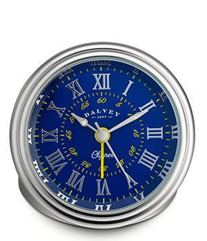 Настольные часы Dalvey Clipper Clock, синий циферблат, нержавеющая сталь  3275