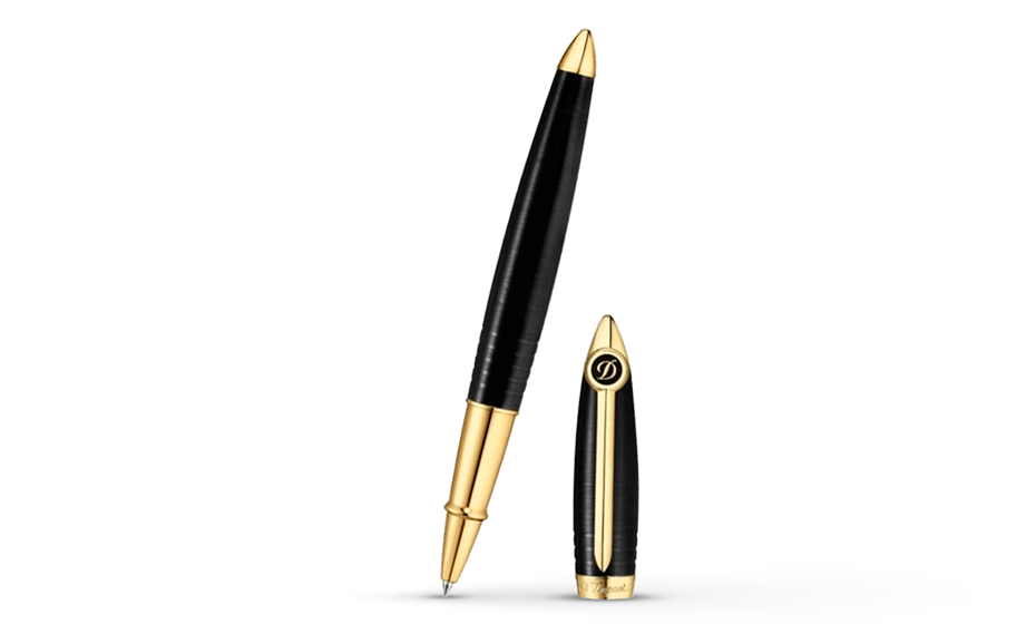 Чернильная ручка S.T. Dupont Streamline-R, латунь, Ceramium A.C.T., позолота  252675