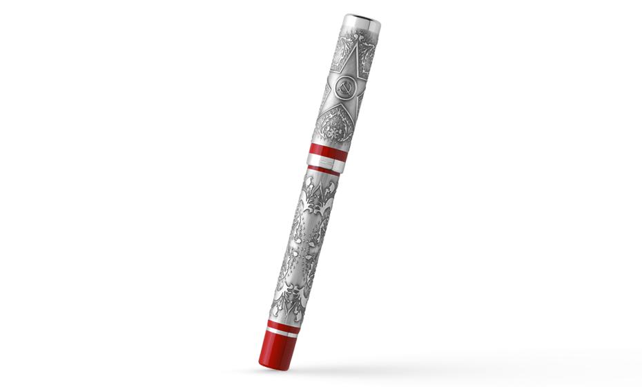 Чернильная ручка Montegrappa Хохлома звезда серебро  KHLOS-RB