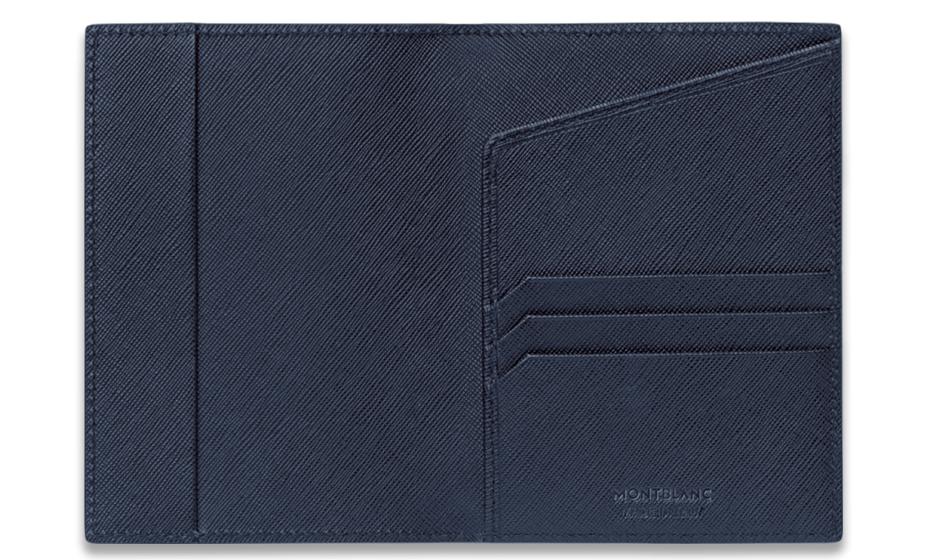 Обложка для паспорта Montblanc кожа, палладий  113234