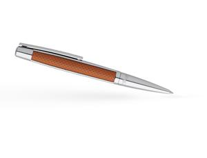 Шариковая ручка S.T. Dupont S.T. Dupont, палладий, коричневая перфорированная  405715