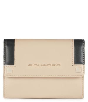 Ключница Piquadro RAND, женская, 11.5x9x2 см, кожа, бежевая  PPC3688S83/BE