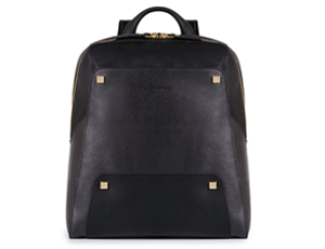 Рюкзак Piquadro UHURA, женский, 30,5x33x13 см, кожа, черный  PCA3677S84/N