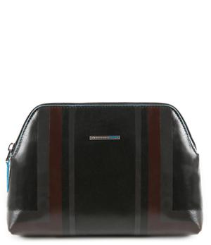Косметичка Piquadro большая, 21,5x14.5x5.5 см, кожа, черная  PBY3795B2SER/N