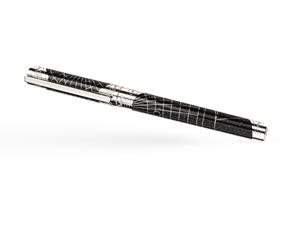 Чернильная ручка S.T. Dupont SHOOT THE MOON, латунь, палладий, черный лак  142031