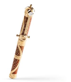 Чернильная ручка S.T. Dupont SHOOT THE MOON, латунь, коричневый китайский лак,  242031