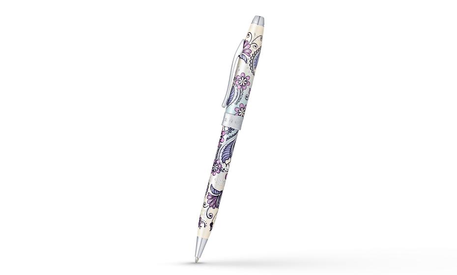 Шариковая ручка Cross Botanica Сиреневая Орхидея, оригинальный рисунок
