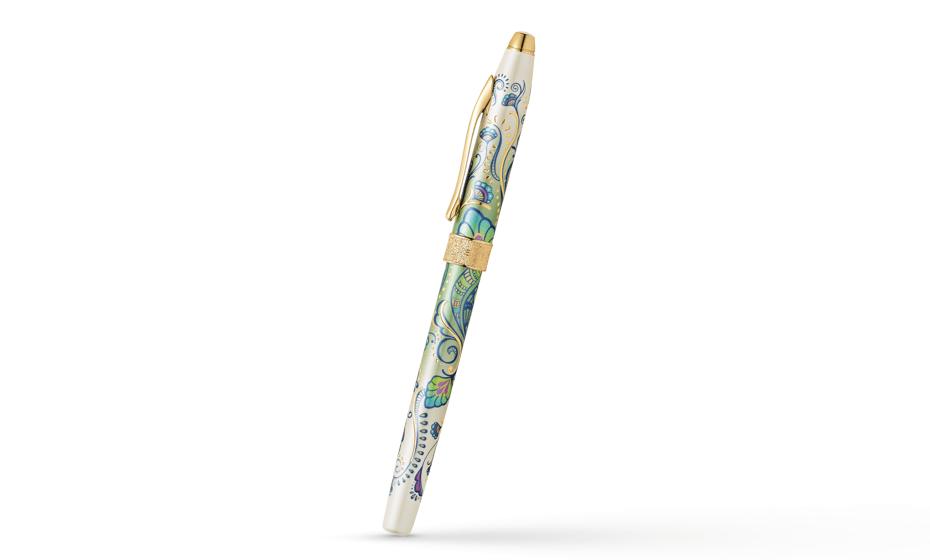 Чернильная ручка Cross Selectip Cross Botanica Зеленая Лилия, латунь, лак  AT0645-4