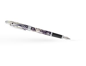 Перьевая ручка Cross Botanica Черная Примула, перо М сталь, лаковое пок  AT0646-5MS