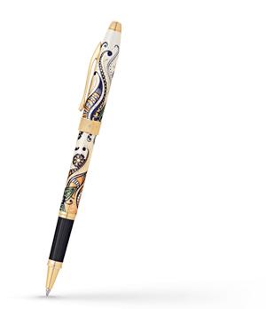 Чернильная ручка Cross Botanica Золотая Магнолия, оригинальный рисунок