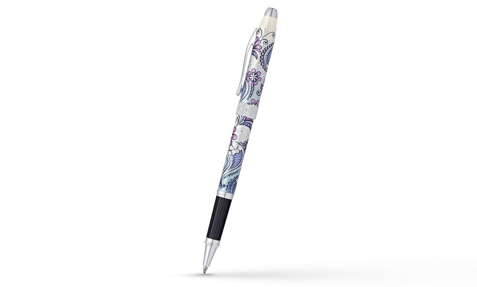 Чернильная ручка Cross Botanica Сиреневая Орхидея, оригинальный рисунок