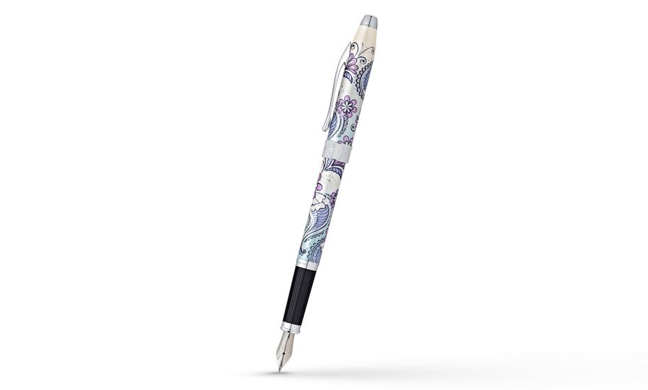 Перьевая ручка Cross Botanica Сиреневая Орхидея, перо F сталь, хром с а  AT0646-2FS