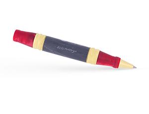 Чернильная ручка Ancora TORRE DI PISA RED, красная, акриловая смола, мрамо  PISA-RED