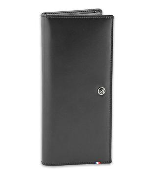 Бумажник S.T. Dupont удлиненная форма, кожа, 18 x 9,5 см  180045