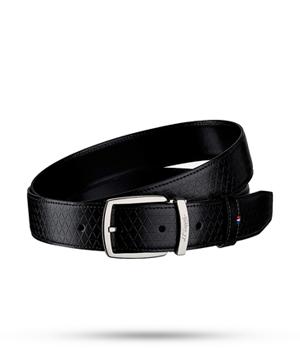 Ремень S.T. Dupont Fire Head Line D, черный, фирменный узор, кожа  8210798
