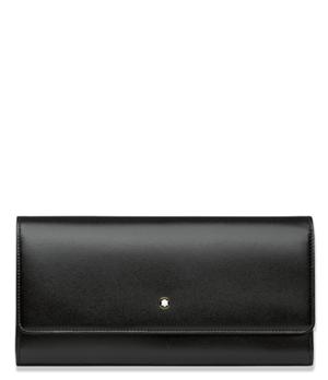 Портмоне Montblanc 10сс Meisterstuck, кожа, удлиненная форма, с клапа  114530