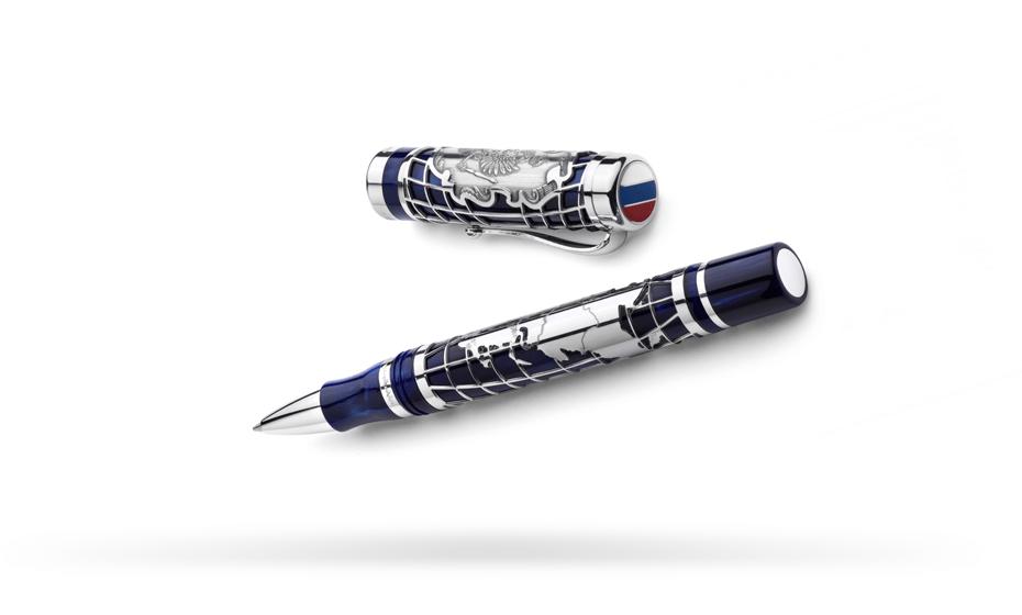 Чернильная ручка Montegrappa Россия, акриловая смола, серебро 925  RUSSIA2012-RB-1