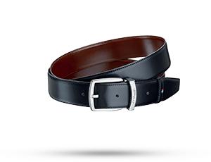 Ремень S.T. Dupont LINE D, двусторонний, палладий, кожа, черный-корич  8210153
