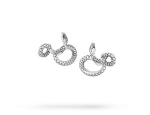 Запонки Montblanc Serpent, дизайн змея, серебро  114752