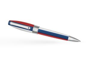 Шариковая ручка Montegrappa Fortuna, триколор, позолота  FORT-RF-BP
