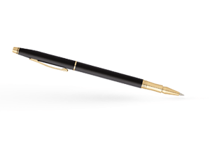 Чернильная ручка Cross Century Classic, матовое чёрное покрытие, позолота  AT0085-79