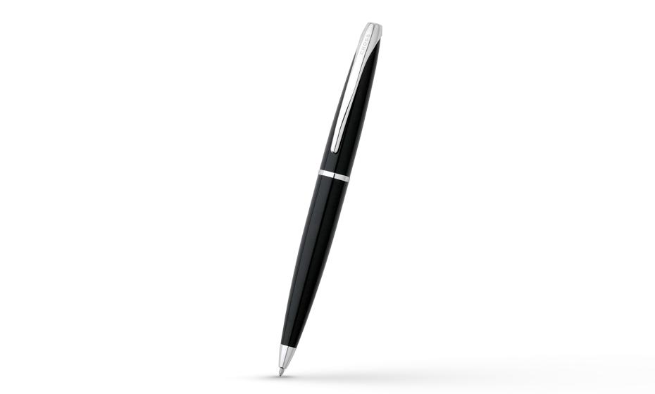 Шариковая ручка Cross ATX Blue Lacquer, ювелирная латунь, глянцевый лак,  882-36