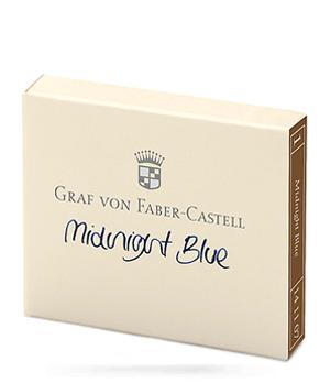 Картриджи Graf von Faber-Castell Graf von Faber-Castell, с чернилами, темно-синий,  141107