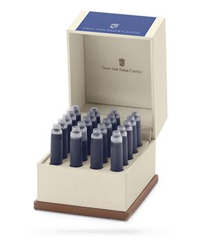 Картриджи синие Graf von Faber-Castell Перманентные, 20 шт., объем картриджа 0,86 мл  141139