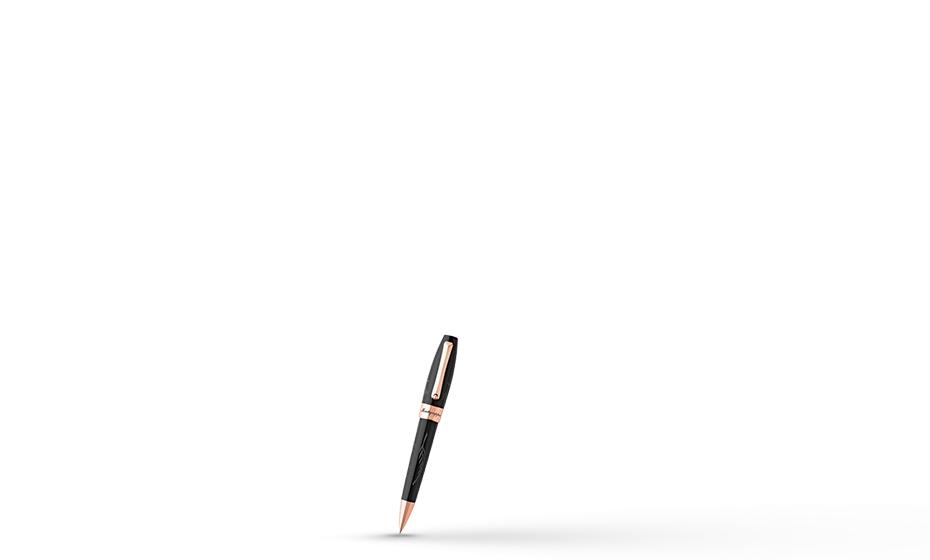 Шариковая ручка Montegrappa Fortuna Credo Отче наш, черная, позолота  FORT-OF-BP